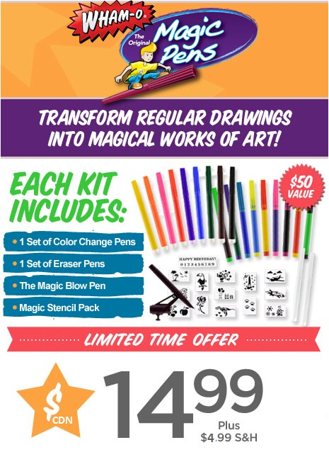 Magic Pens Transforms Regular Drawings Into Magical Works of Art!